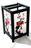 Japanese Lantern. With Cherry Blossom Artwork on the outside Royalty Free Stock Images