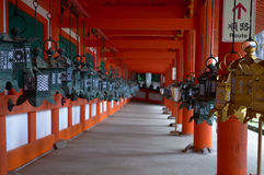 Japanese lantern corridor Stock Image