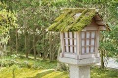 Japanese lantern. In Japanese garden Royalty Free Stock Photos
