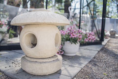 Japanese lantern for the garden. Royalty Free Stock Photo