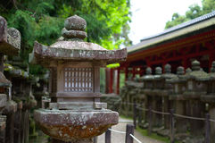 Old Japanese lantern. At Kasuga Taisha shrine Stock Images