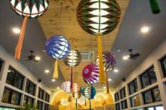 Japanese lantern in Nekoemon cafe chiang mai thailand stock photo
