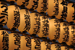 Japanese Lanterns. Japenese Lanterns in Tokyo District Stock Photography