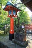 Japanese lanterns. Red Japanese Lanterns in the Enoshima Daishi Shrine Royalty Free Stock Images