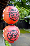 Japanese lanterns with Giant picture. 1 Stock Photos