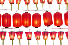 Japanese lanterns. Isolated on white Royalty Free Stock Photos