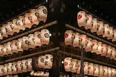 Japanese lanterns. In Kyoto Japan Royalty Free Stock Photo
