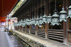 Japanese lanterns. In Nara Japan Royalty Free Stock Image