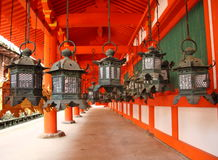 Japanese lanterns in Nara Royalty Free Stock Image