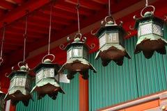 Japanese lanterns in Nara Stock Images