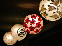 Japanese Lanterns in The Night. Royalty Free Stock Photos