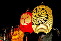 Japanese lanterns. Traditional Japanese lanterns used in festival Royalty Free Stock Image