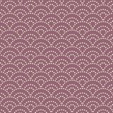Japanese lavender dot sea wave pattern. Japanese dot sea wave pattern on lavender color background Royalty Free Stock Photo