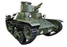 Japanese light tank Type 3 Ke-Ri isolated white Stock Image
