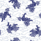 Japanese lion pattern Royalty Free Stock Photography