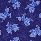 Japanese lion pattern Royalty Free Stock Image