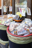 Japanese local food products sold at Arima Onsen village in Kobe, Japan Stock Photography