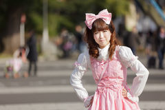 Japanese lolita Royalty Free Stock Photo