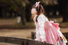 Japanese lolita cosplay Royalty Free Stock Images