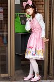 Japanese lolita phoning Royalty Free Stock Photo