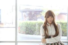 Japanese lolita style girl. Japanese lolita costume style girl stock image