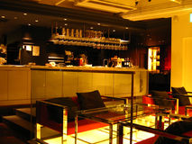 Japanese lounge and bar. A view of an unoccupied lounge and bar in Tokyo, Japan Stock Image