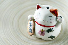 Japanese Lucky Cat doll Stock Images
