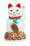 Japanese Lucky Cat Figure. Lucky cat figure isolated on white background royalty free stock photo