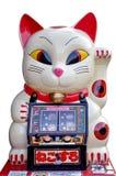 Japanese lucky cat gambling machine Stock Image