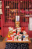Japanese lucky cats Stock Photography