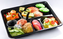 Japanese lunchbox food isolated  Royalty Free Stock Photo