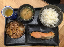 Japanese lunch meal Stock Photo