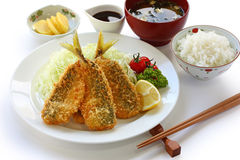 Japanese lunch set meal Stock Photos