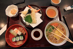 Japanese lunch set Royalty Free Stock Images