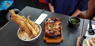 Japanese lunch royalty free stock photography