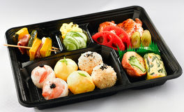 Japanese lunchbox isolated  Royalty Free Stock Photography