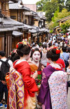 Japanese Maiko in Kyoto Stock Images
