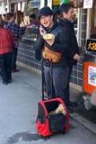Japanese man talking on the phone stock image