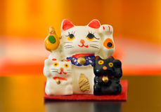 Japanese maneki-neko cats Stock Images