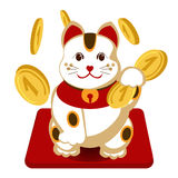 Japanese maneki neko Royalty Free Stock Photo