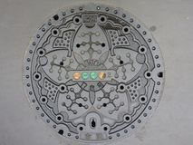 Japanese Manhole Cover Royalty Free Stock Image