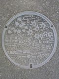 Japanese Manhole Cover Stock Image