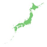 Japanese map Royalty Free Stock Images