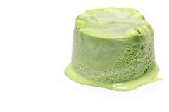 Japanese marble color green tea ice cream stock photo