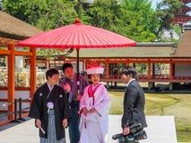 Japanese wedding in Itsukushima Shinto Shrine Stock Images