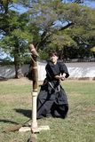 Japanese martial art with katana sword Stock Image