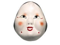 Japanese mask. Isolated over white background with clipping path Stock Photo