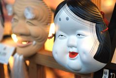 Japanese mask Royalty Free Stock Photo