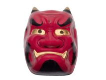 Japanese mask-clipping path Royalty Free Stock Image