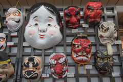 The japanese masks in market Stock Photography